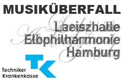 Trio Hilaris Musiküberfall Elbphilharmonie Techniker Krankenkasse